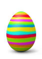 Osterei, Ei, Ostern, bemalt, bunt, farbig, Streifen, 3D, Eggs