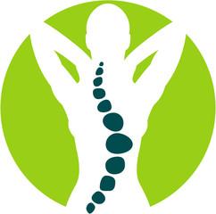 Flat Icon oder Logo für Physiotherapie oder Osteopathie