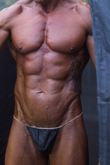 Bodybuilder tan, torso