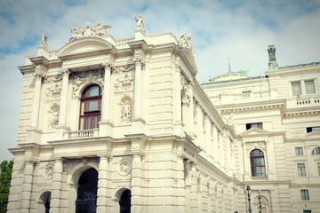 Vienna Burgtheater. Cross processed color tone.