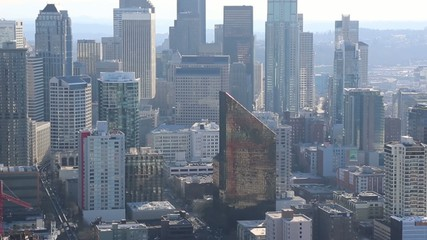panorama  streets of downtown Seattle
