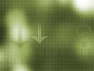 Background - bulb & arrow