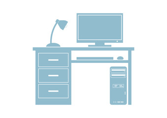 Computer vector icon on white background