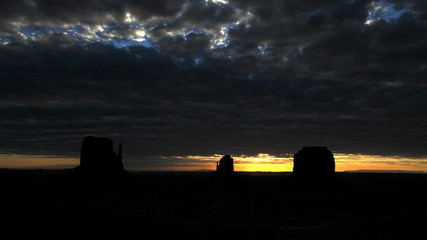 Time Lapse of Sunrise Monument Valley Utah