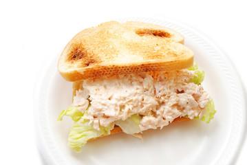 Toasted Chicken Salad Sandwich Served