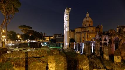 Fori romani di notte - Roma