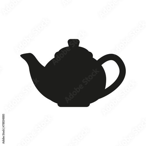 The teapot icon. Tea symbol. Flat - 78834880