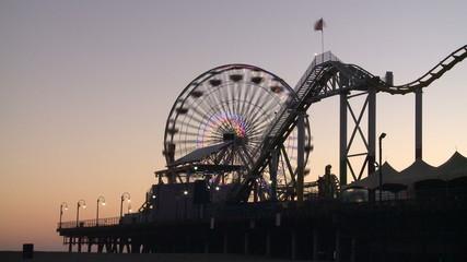Amusement Park at Sunset - Clip 3