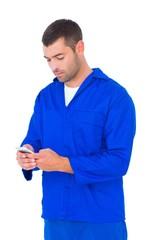 Mechanic text messaging through mobile phone