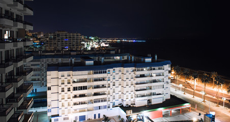 Night view of a Benalmadena. Malaga, Spain