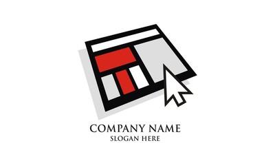 Iconic frame website icon logo vector