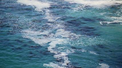 Time Lapse of Foamy Sea Water