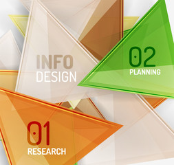Business modern colorful geometric infographics