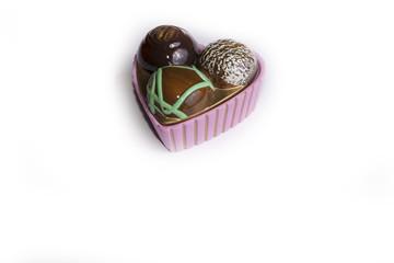 Un cuore di cioccolata d