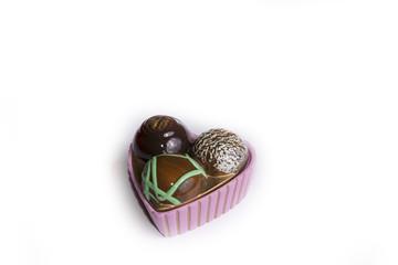 Un cuore di cioccolata s