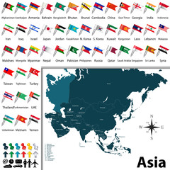 Political map of Asia