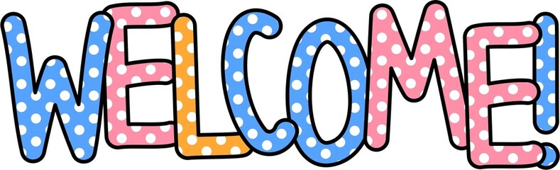 Welcome Clip Art Text
