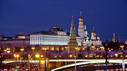 Moscow Kremlin night view