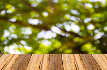 wooden pattern mix with bokeh background