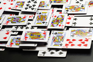 playing cards backgrounds black