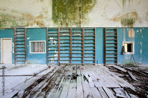 canvas print picture The gym in abandoned school