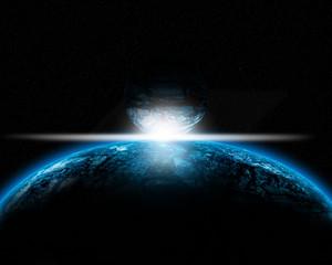 Illustration of a alien planet.