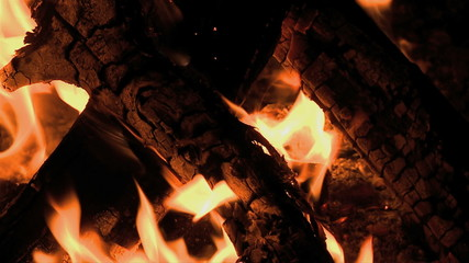 Slow Motion of Camp Fire