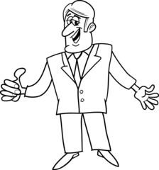 ok man cartoon illustration