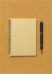 Blank spiral binder notebook