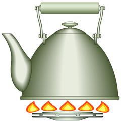 Teapot on burner