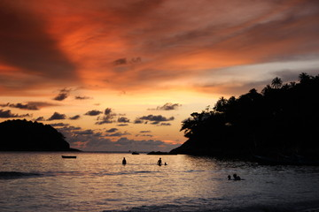 Sea sunset at Thailand