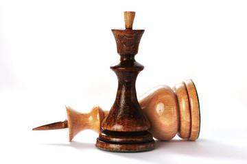 Chessmen isolated