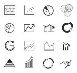 Elements for infographics, charts, graphs. flat style