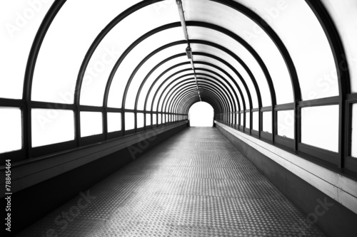 Fotobehang Tunnel Pedestrian tunnel over a wide highway.