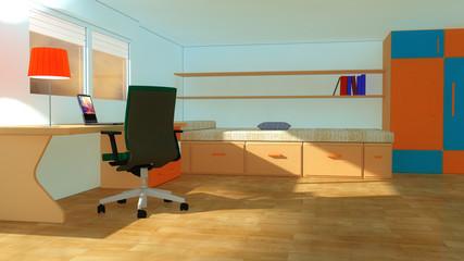 Interior modern youth room