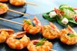 Appetizing giant shrimp starter. - 78846002