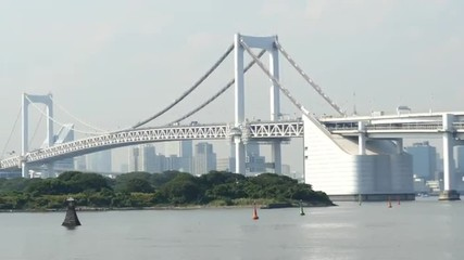Zoom Out of the Peace Bridge - Tokyo Japan