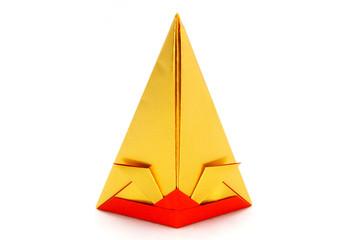 Origami paper Samurai Helmet Japan