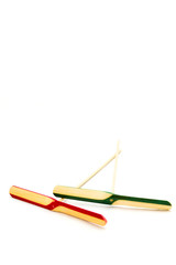 Bamboo-copter, or bamboo dragonfly, a japanese traditional toy