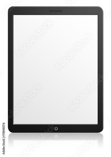 Modern computer tablet with blank screen - 78848076
