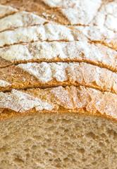 Detail of sliced bread
