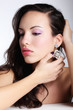 Portrait of young beautiful woman  with fashion makeup