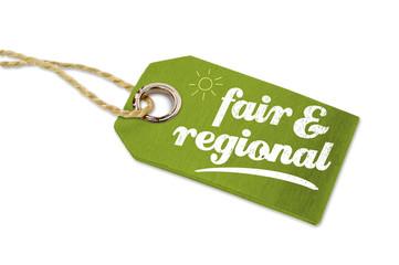 Anhänger mit regional und fair