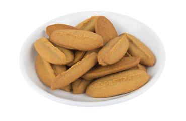 Shortbread cookies in saucer