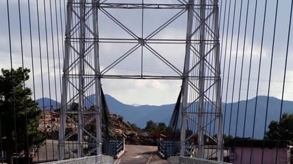 Tilt shot of the Royal Gorge bridge in Colorado
