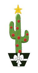 Cactus Christmas Tree Pot