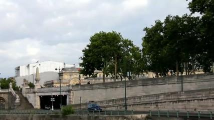 Near bridge of Alexandre III.  Paris