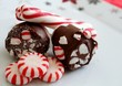 Red and white stripped peppermint candy - 78852851