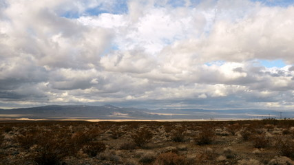 Time Lapse of the Mojave Desert Storm Clouds