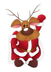 Dancing Reindeer Santa Claus